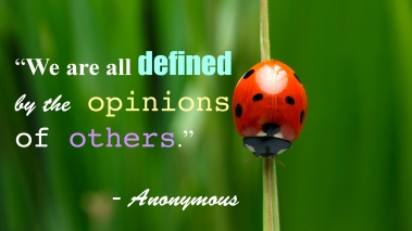 """We are all defined by the opinions of others."""