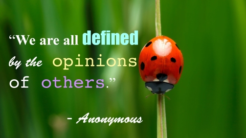 """""""We are all defined by the opinions of others."""""""
