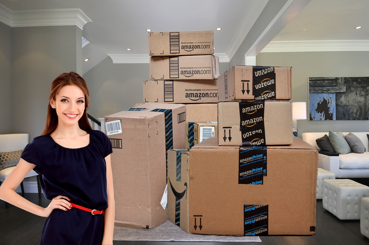 This Woman Built A Second Home In Her Living Room 100% Out Of Amazon Boxes - The Results Are Amazing