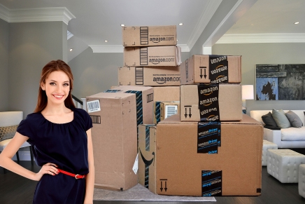 This Woman Built A Second Home In Her Living Room 100% Out Of Amazon Boxes – The Results Are Amazing